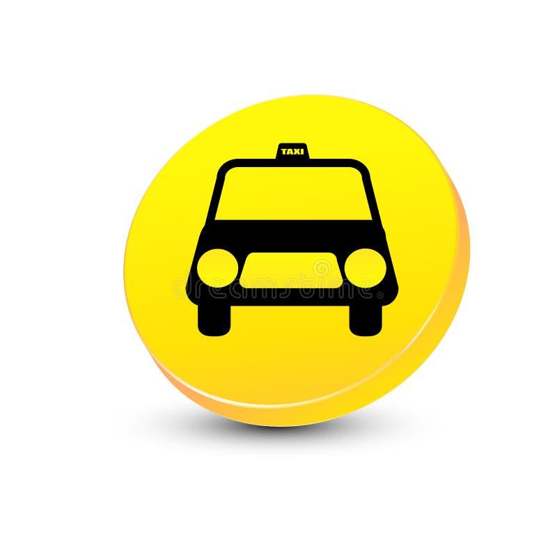 Het pictogram van de taxi vector illustratie