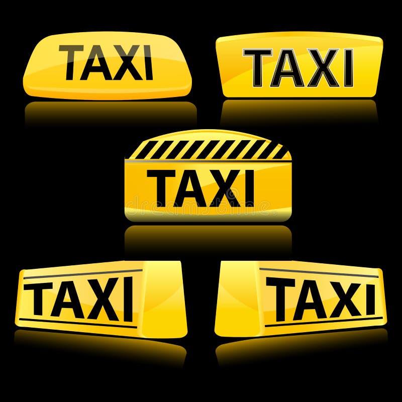 Het pictogram van de taxi stock illustratie