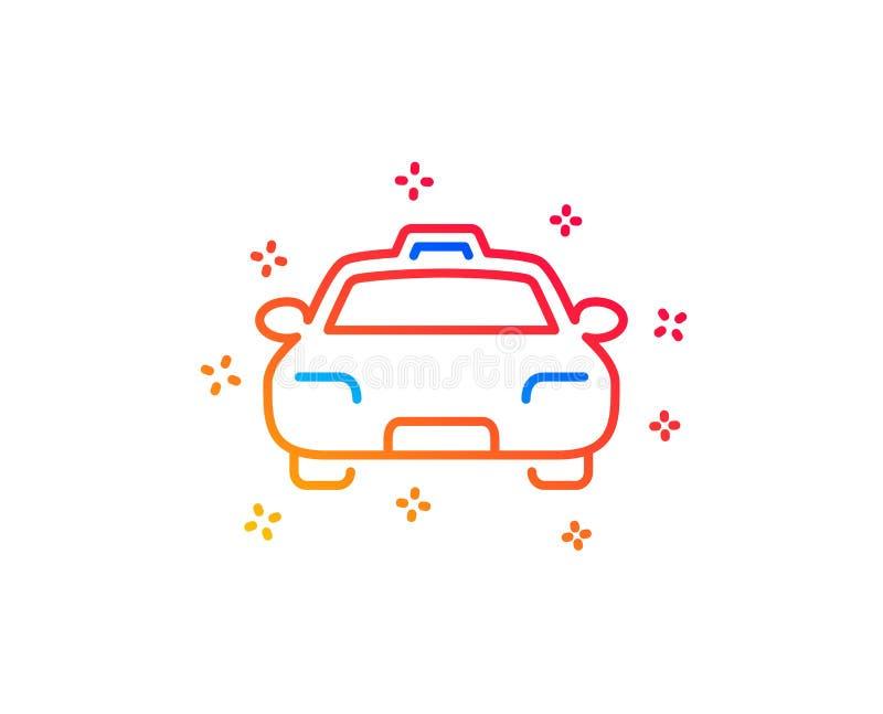 Het pictogram van de taxilijn Het teken van het cli?ntvervoer Vector royalty-vrije illustratie