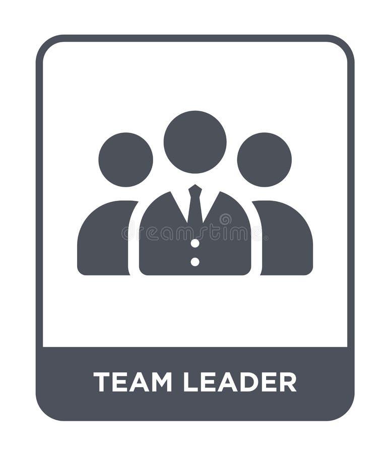 het pictogram van de teamleider in in ontwerpstijl het pictogram van de teamleider op witte achtergrond wordt geïsoleerd die het  vector illustratie