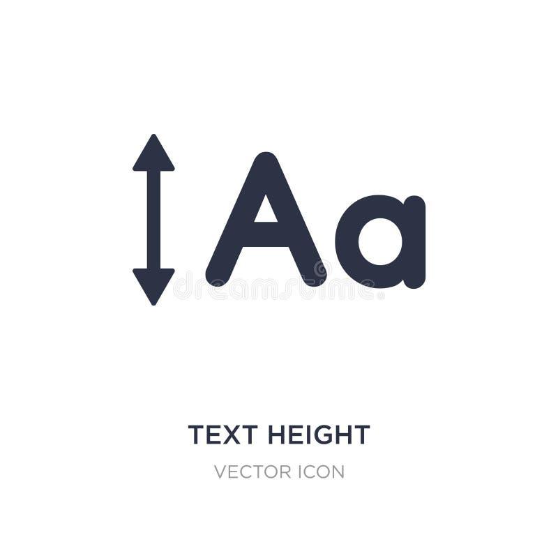 het pictogram van de teksthoogte op witte achtergrond Eenvoudige elementenillustratie van UI-concept royalty-vrije illustratie