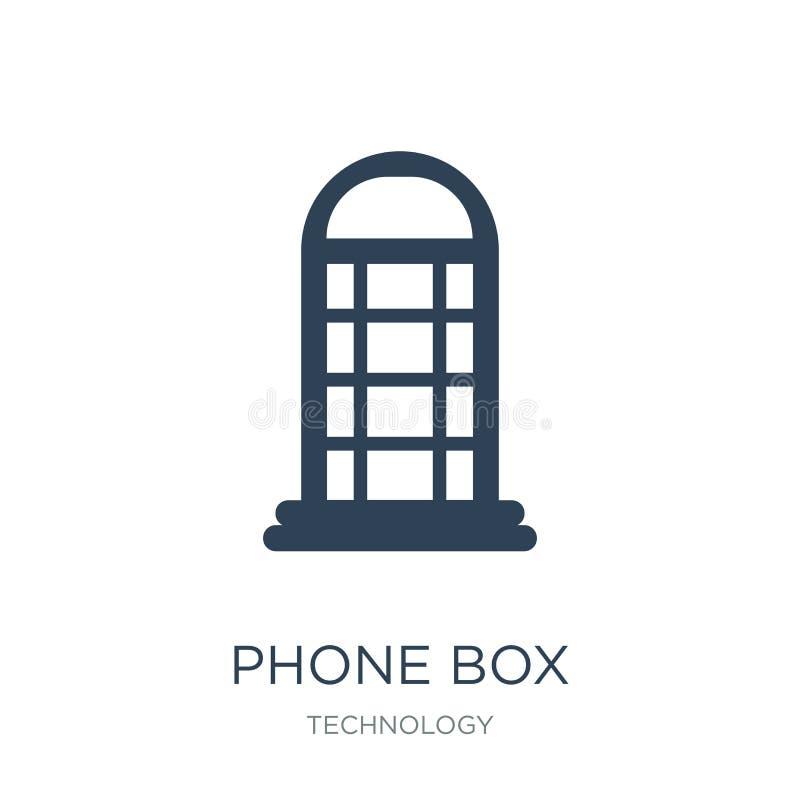 het pictogram van de telefoondoos in in ontwerpstijl het pictogram van de telefoondoos op witte achtergrond wordt geïsoleerd die  vector illustratie