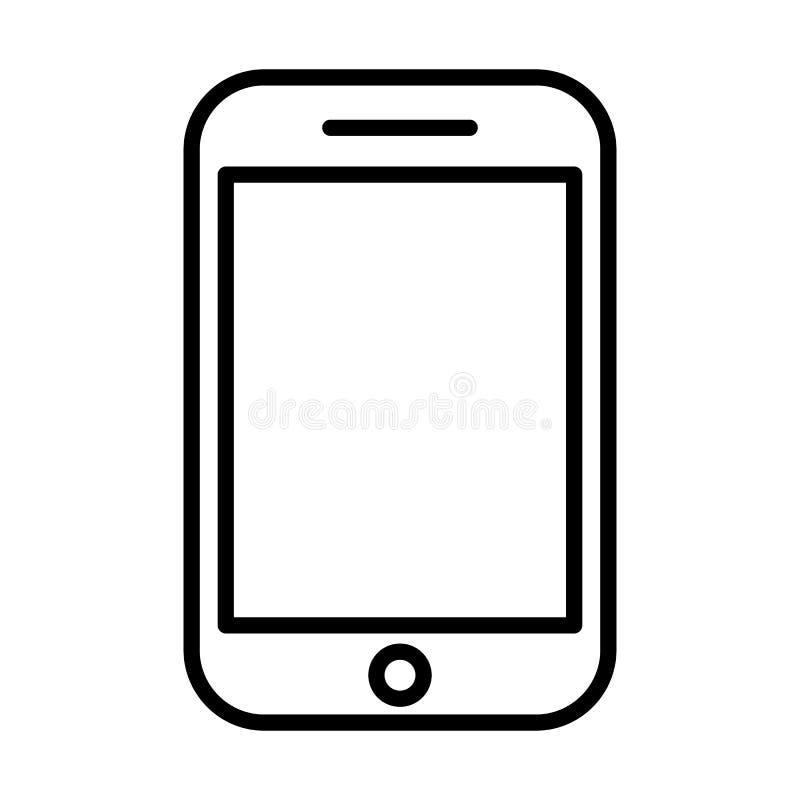 Het pictogram van de telefoonlijn Lineair vectorsymbool vector illustratie