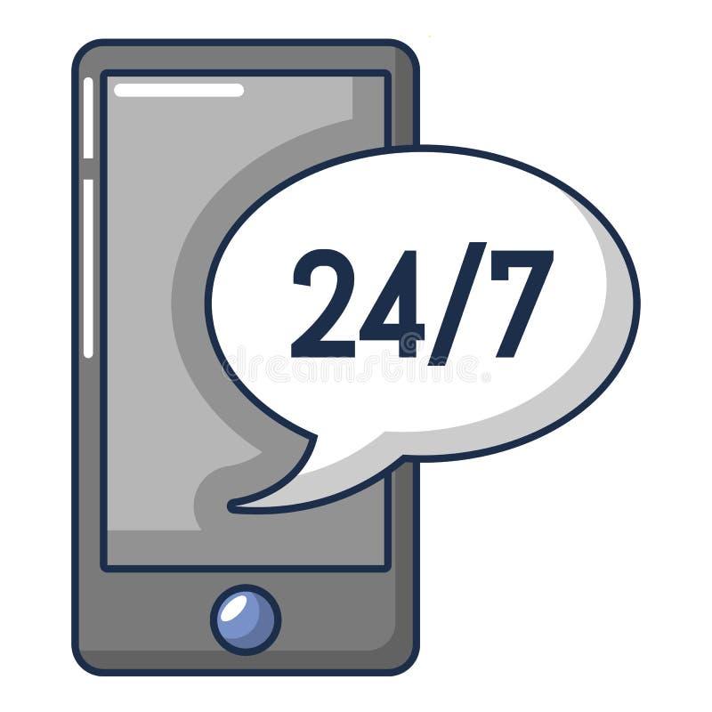 Het pictogram van de telefoonreparatie, beeldverhaalstijl stock illustratie
