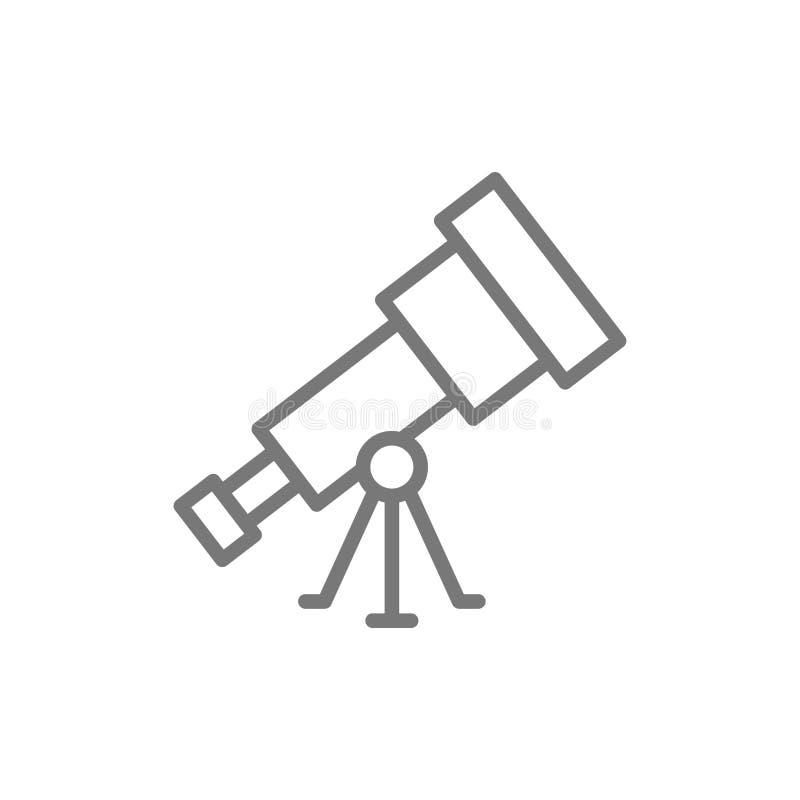 Het pictogram van de telescooplijn vector illustratie