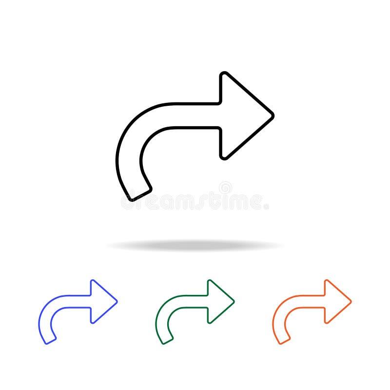 het pictogram van de terugkeerpijl Elementen van eenvoudig Webpictogram in multikleur Grafisch het ontwerppictogram van de premie vector illustratie