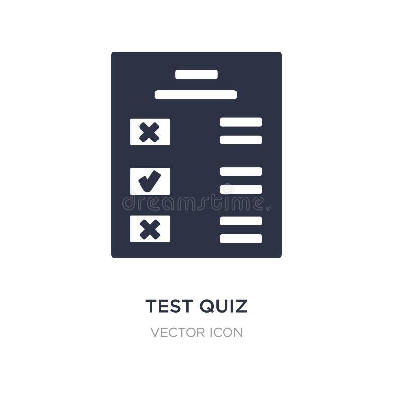 het pictogram van de testquiz op witte achtergrond Eenvoudige elementenillustratie van UI-concept stock illustratie