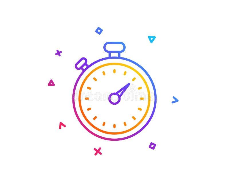 Het pictogram van de tijdopnemerlijn Chronometerteken Vector stock illustratie