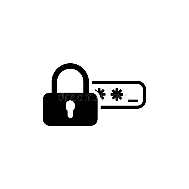 Het pictogram van de Toegang van de veiligheid en van de Bescherming van het Wachtwoord stock fotografie