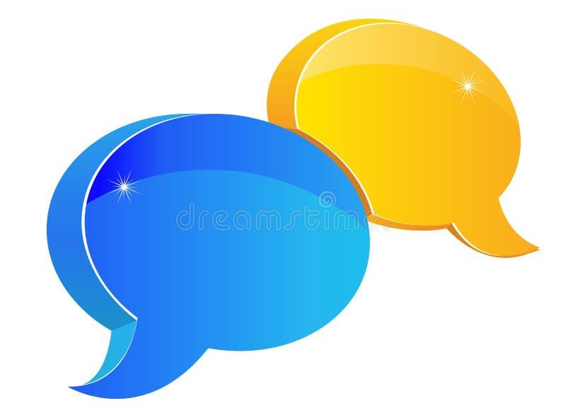 Het pictogram van de toespraak of van het praatje vector illustratie