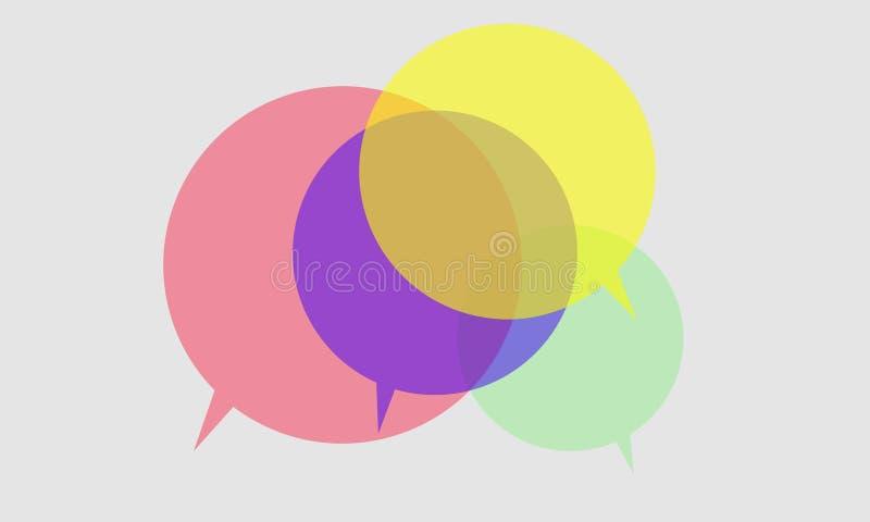 Het pictogram van de toespraakbel vector illustratie