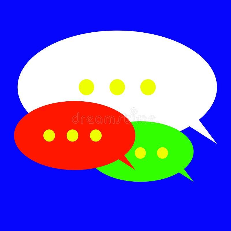 Het pictogram van de toespraakbel stock illustratie