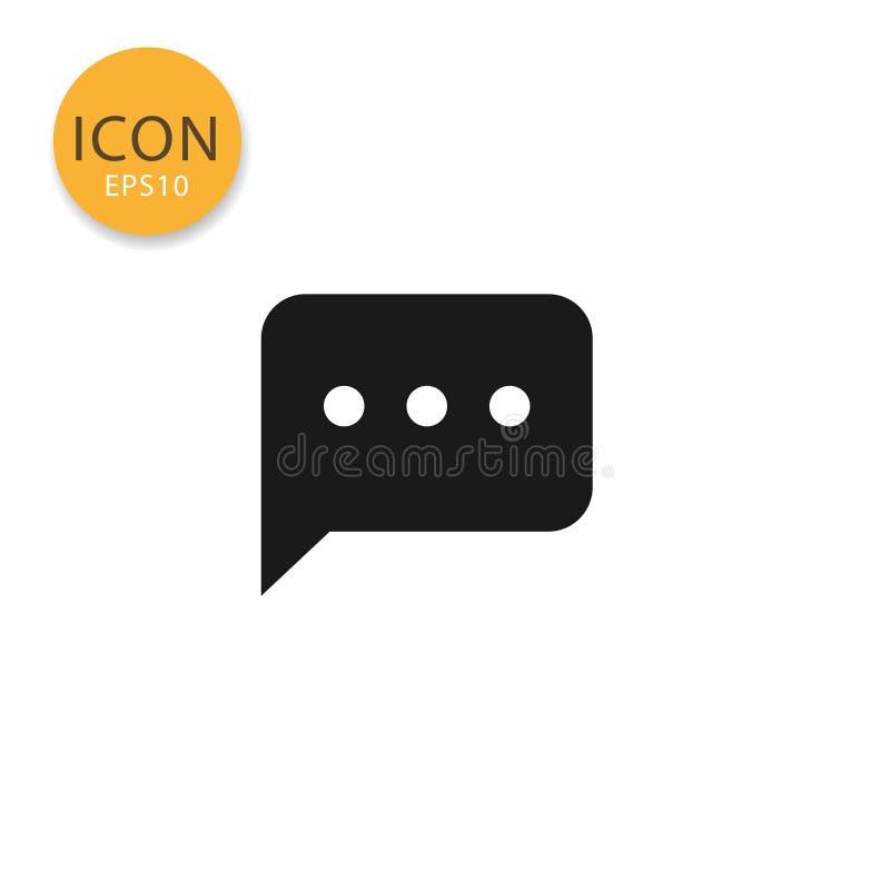 Het pictogram van de toespraakbel isoleerde vlakke stijl vector illustratie