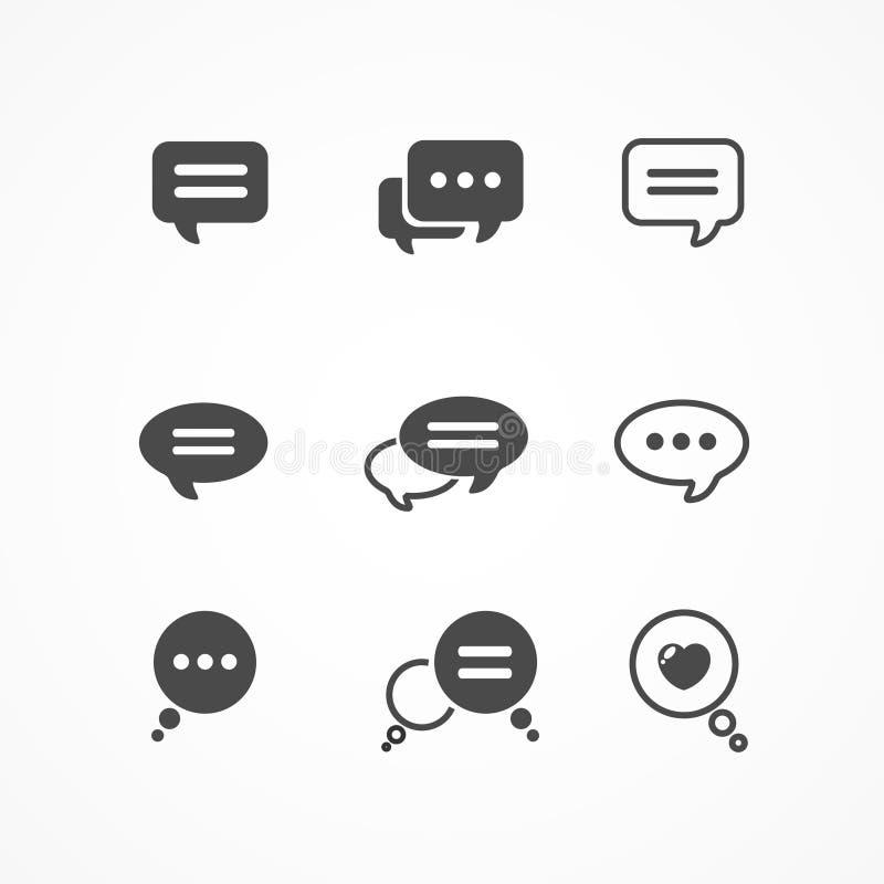Het pictogram van de toespraakbel op witte achtergrond wordt geplaatst die vector illustratie
