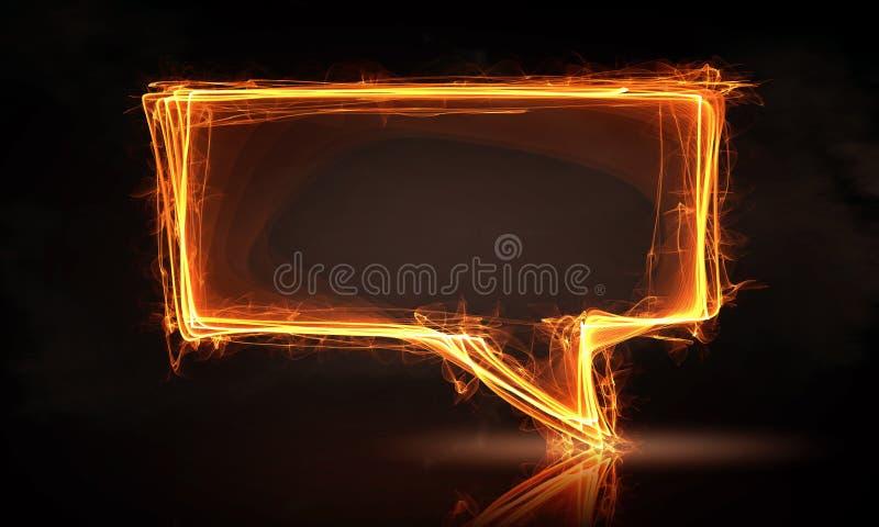 Het pictogram van de toespraakbrand stock afbeelding