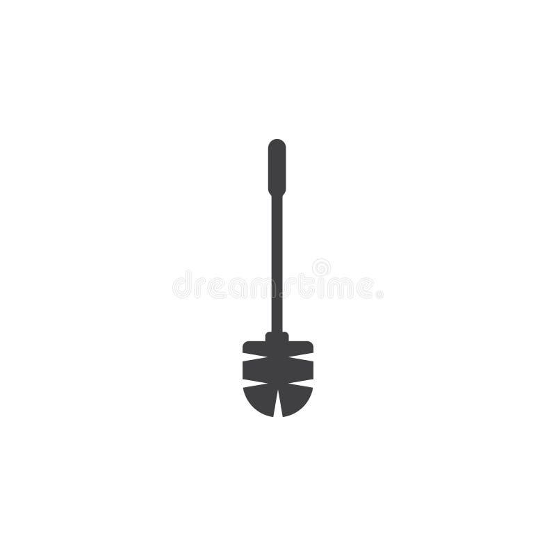 Het pictogram van de toiletborstel vector illustratie