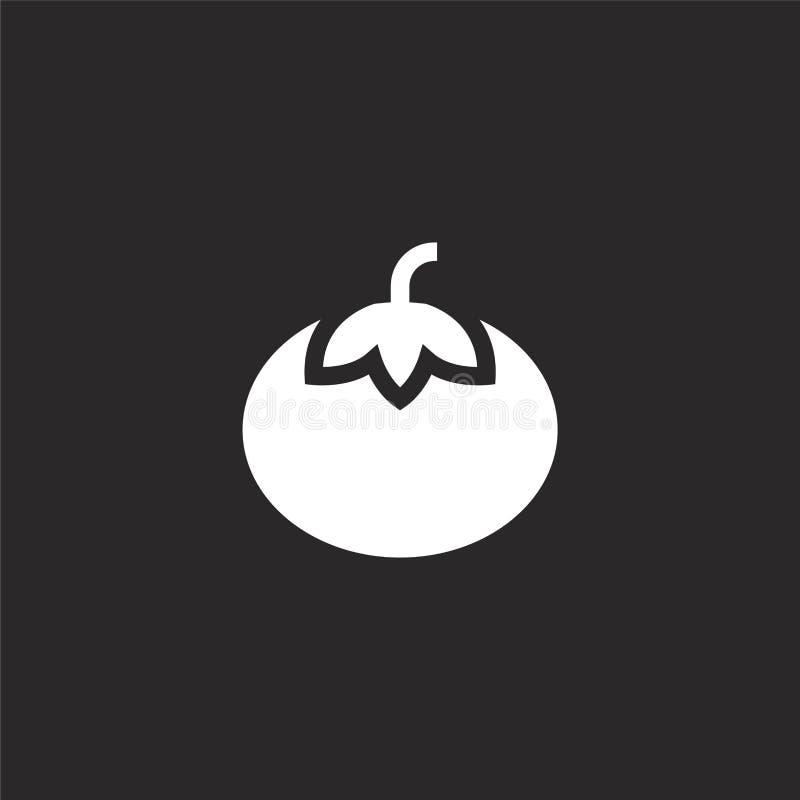 Het pictogram van de tomaat Gevuld tomatenpictogram voor websiteontwerp en mobiel, app ontwikkeling tomatenpictogram van de gevul vector illustratie