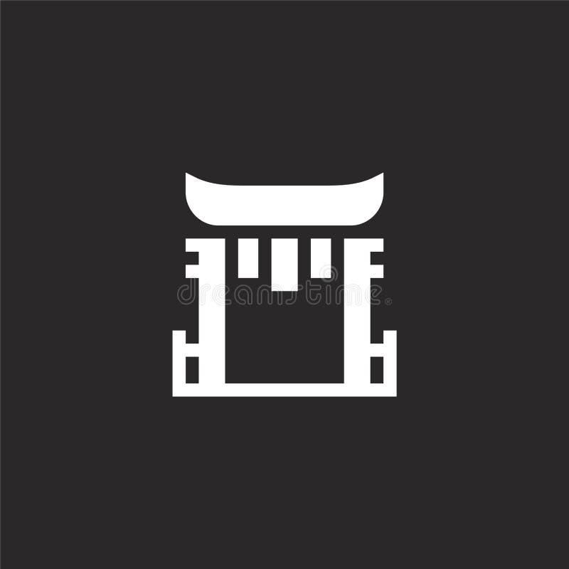 Het pictogram van de Toriipoort Het gevulde pictogram van de toriipoort voor websiteontwerp en mobiel, app ontwikkeling het picto stock illustratie