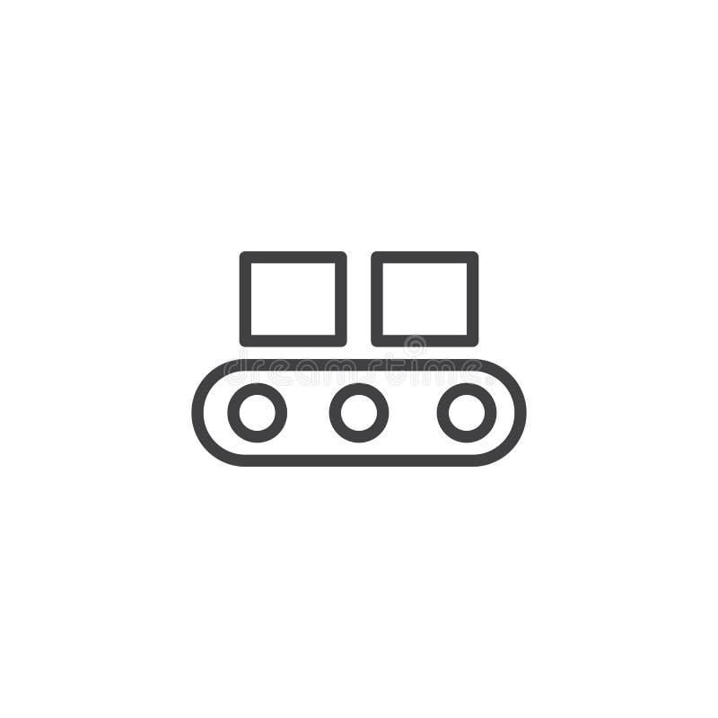 Het pictogram van de transportbandlijn vector illustratie