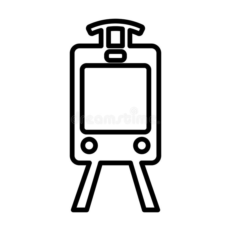 Het Pictogram van de treinlijn Het teken van het tramoverzicht EPS 10 stock illustratie