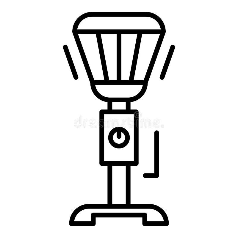 Het pictogram van de tribuneverwarmer, overzichtsstijl vector illustratie
