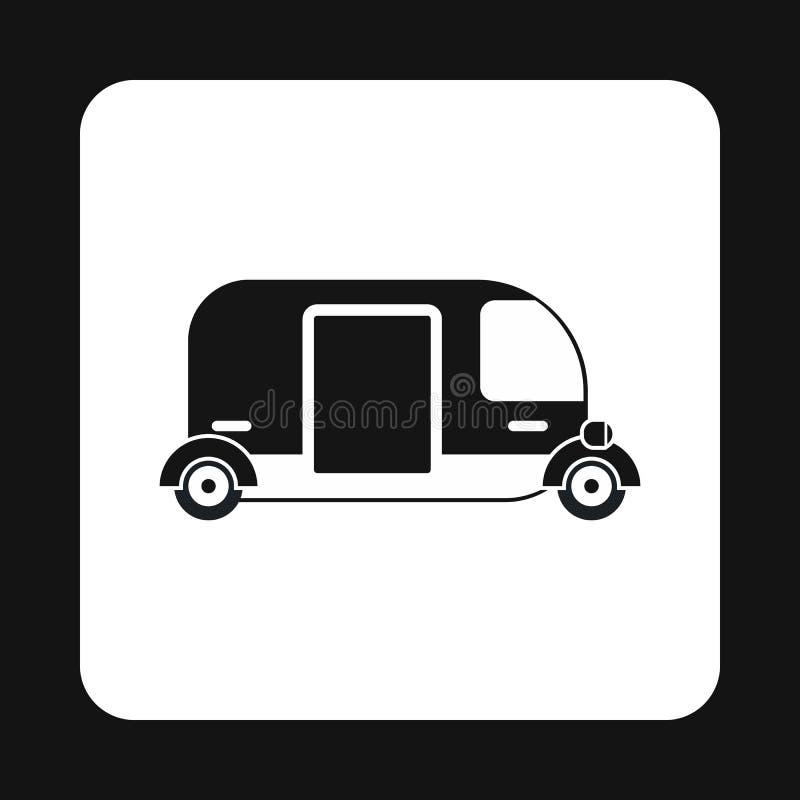 Het pictogram van de Tuk tuk taxi, eenvoudige stijl vector illustratie