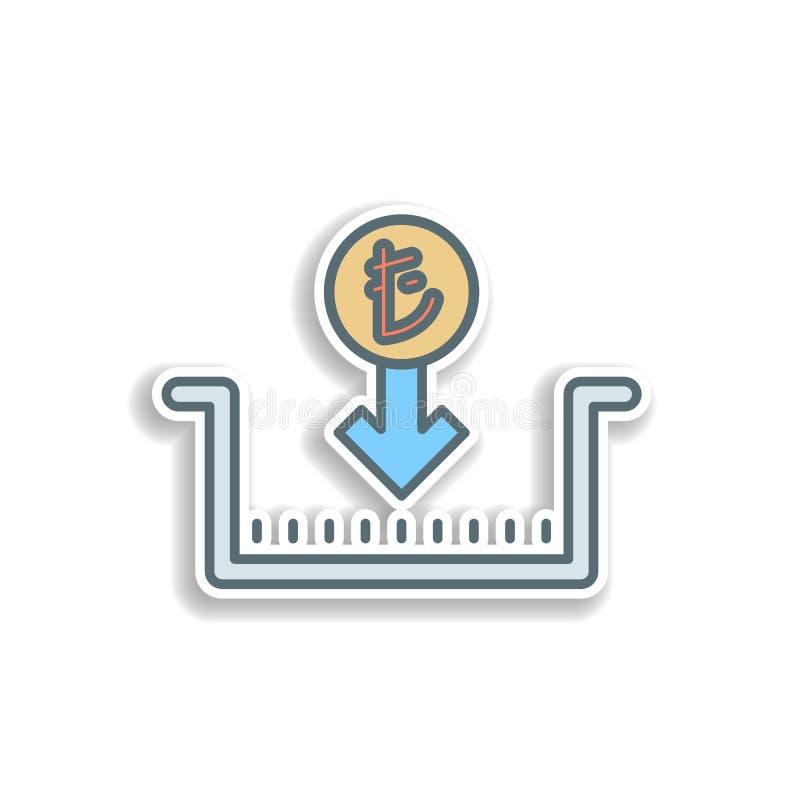 het pictogram van de twee ballensticker Element van het pictogram van het kleurenbankwezen Het pictogram van het de stickerontwer stock illustratie