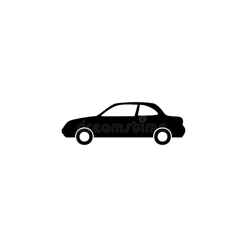Het pictogram van de twee deurauto Element van autotype pictogram Grafisch het ontwerppictogram van de premiekwaliteit Tekens en  vector illustratie