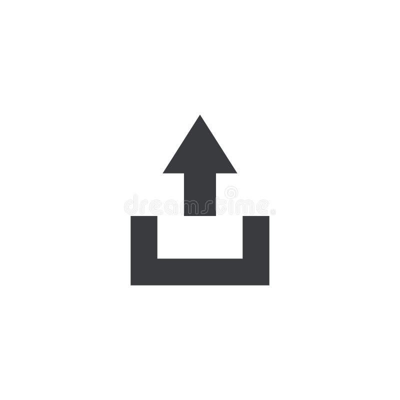 Het pictogram van het de uitvoerdossier Upload teken Het symbool van het aandeeldocument Interfaceknoop Element voor ontwerpmobie vector illustratie