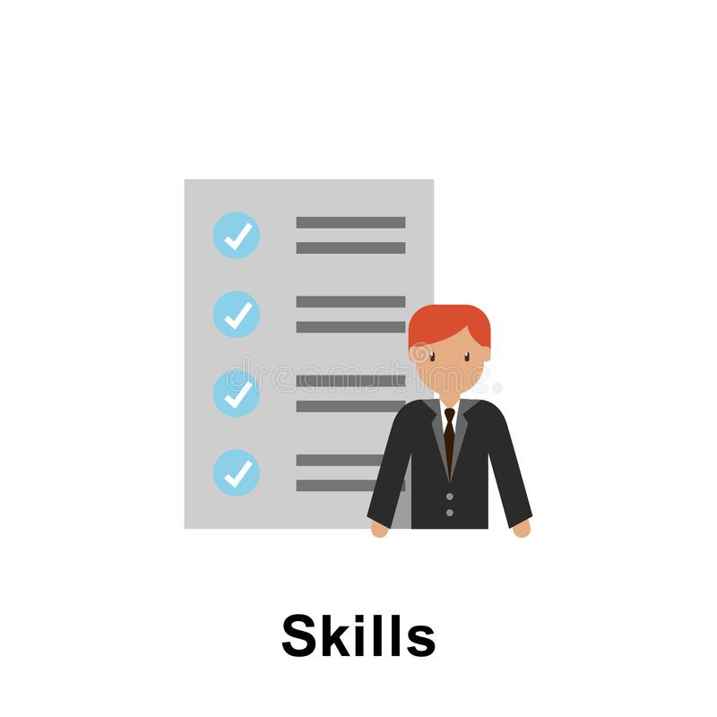 Het pictogram van de vaardighedenkleur Element van bedrijfsillustratie Grafisch het ontwerppictogram van de premiekwaliteit Teken vector illustratie