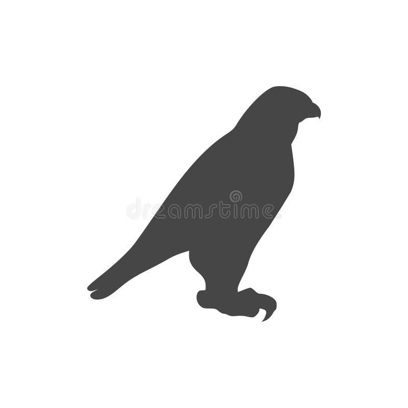 Het pictogram van de valkvogel vector illustratie