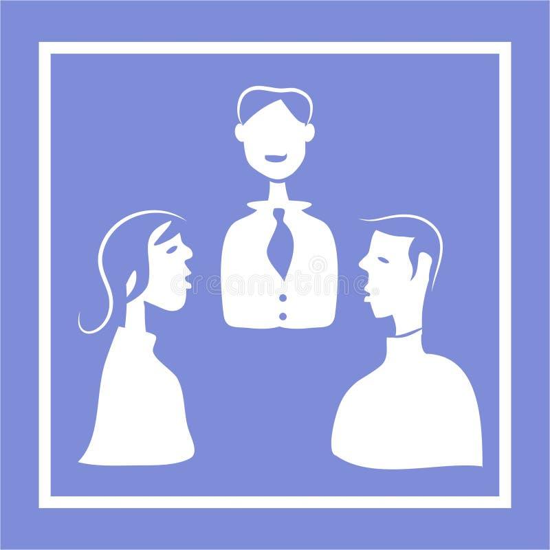 Het Pictogram van de vergadering royalty-vrije illustratie