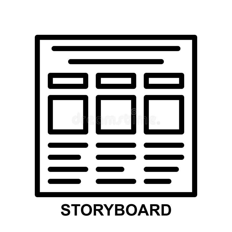 Het pictogram van de verhaalraad royalty-vrije illustratie