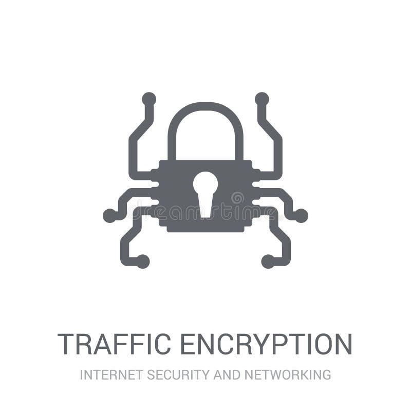 het pictogram van de verkeersencryptie  stock illustratie
