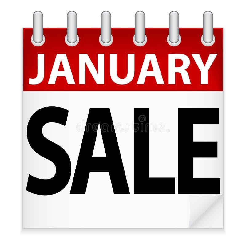 Het Pictogram van de Verkoop van januari