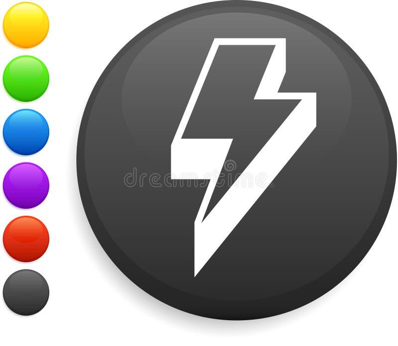 Het pictogram van de verlichting op ronde Internet knoop stock illustratie
