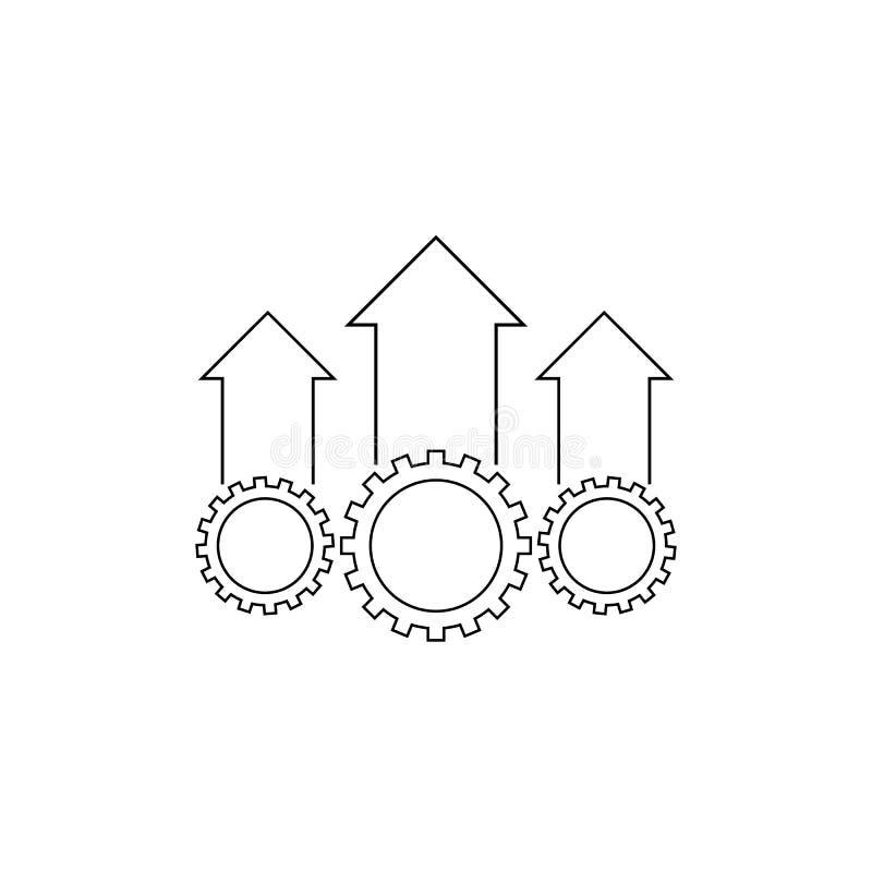 Het pictogram van de verrichtingsvoortreffelijkheid stock illustratie
