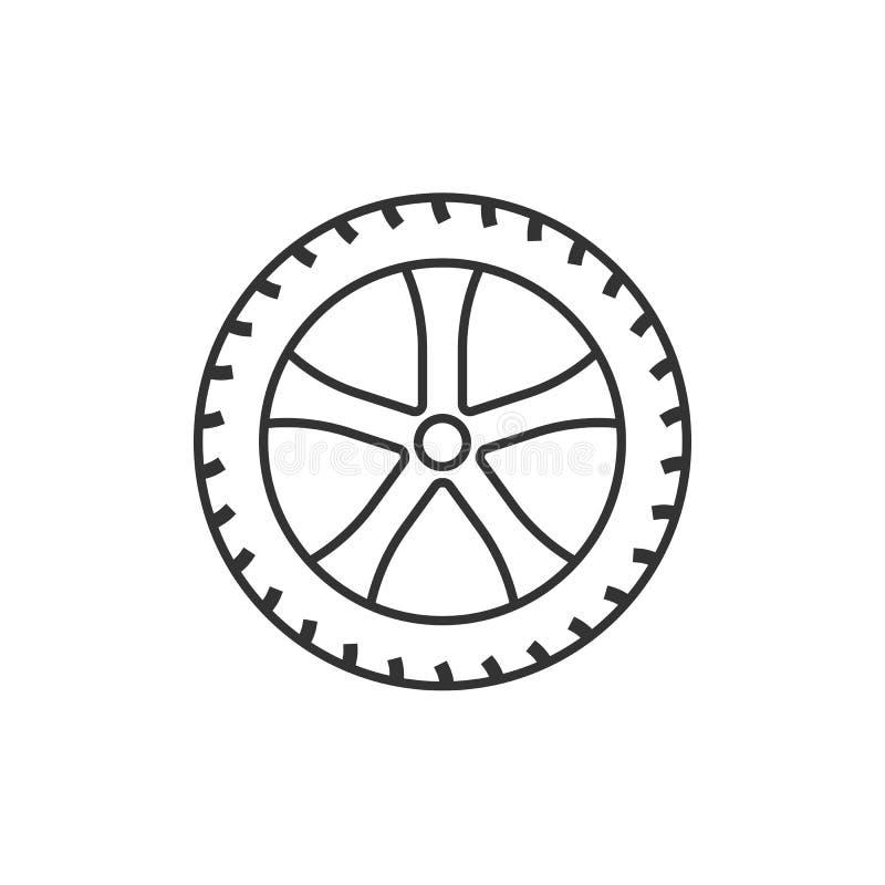 Het pictogram van de vervoerband Vectorillustratie, vlak ontwerp stock illustratie