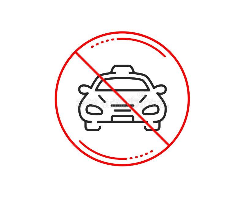 Het pictogram van de het vervoerlijn van de taxicabine Het teken van het autovoertuig Vector royalty-vrije illustratie