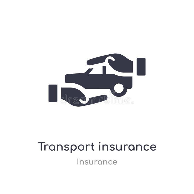 Het pictogram van de vervoerverzekering geïsoleerde het pictogram vectorillustratie van de vervoerverzekering van verzekeringsinz stock illustratie