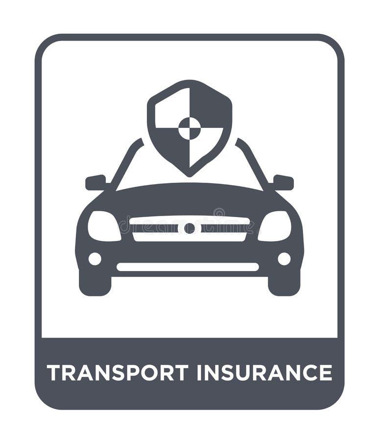 het pictogram van de vervoerverzekering in in ontwerpstijl het pictogram van de vervoerverzekering op witte achtergrond wordt geï royalty-vrije illustratie