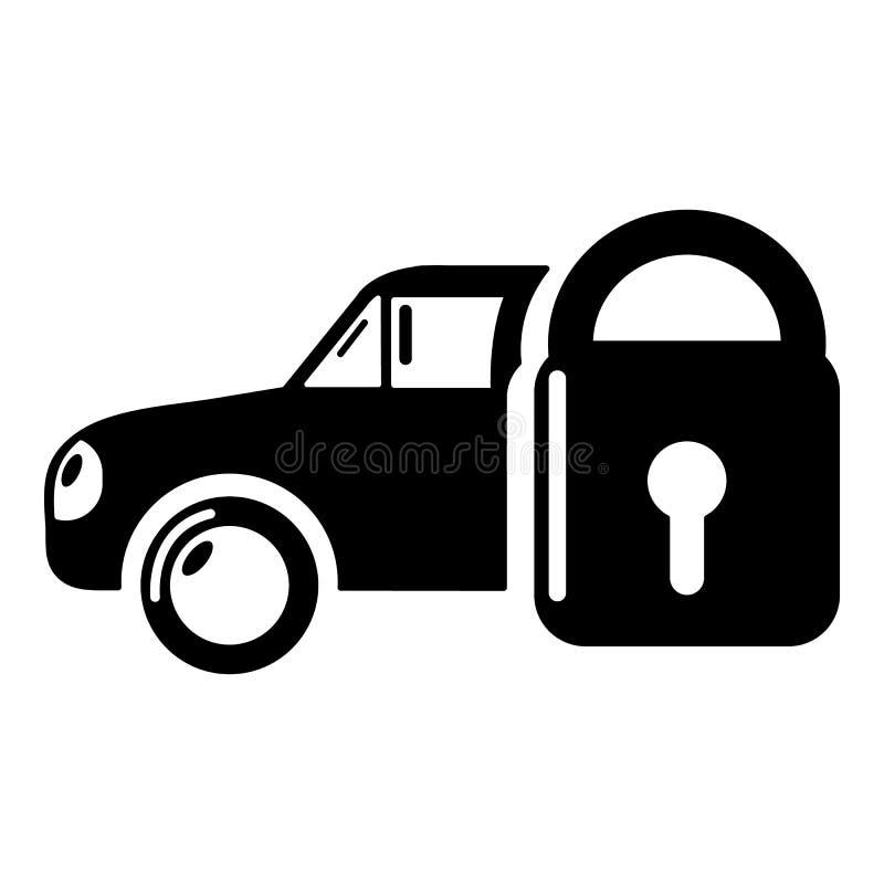 Download Het Pictogram Van De Verzekeringsauto, Eenvoudige Zwarte Stijl Vector Illustratie - Illustratie bestaande uit voorwerp, ongeval: 107707547