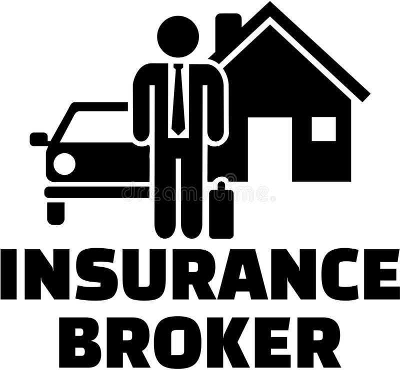 Het pictogram van de verzekeringsmakelaar vector illustratie