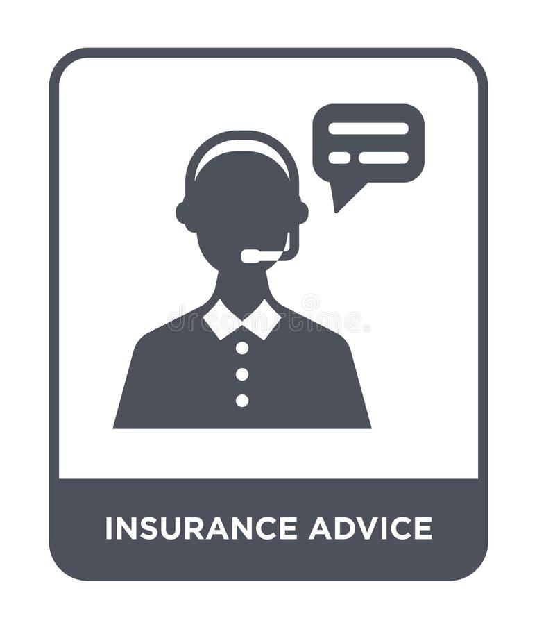 het pictogram van de verzekeringsraad in in ontwerpstijl het pictogram van de verzekeringsraad op witte achtergrond wordt geïsole vector illustratie