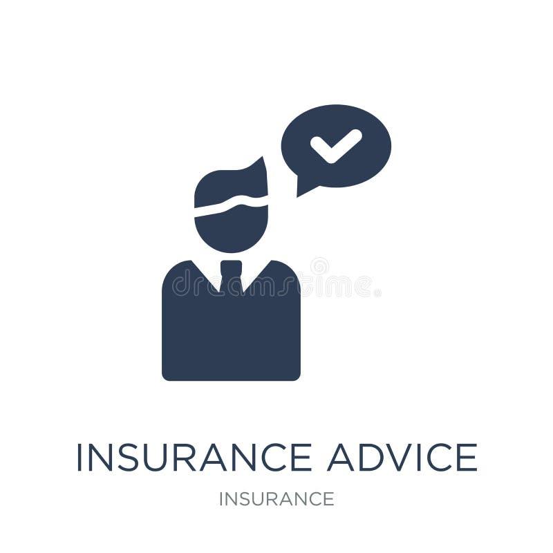 het pictogram van de verzekeringsraad Het in vlakke vectorpictogram van de verzekeringsraad stock illustratie