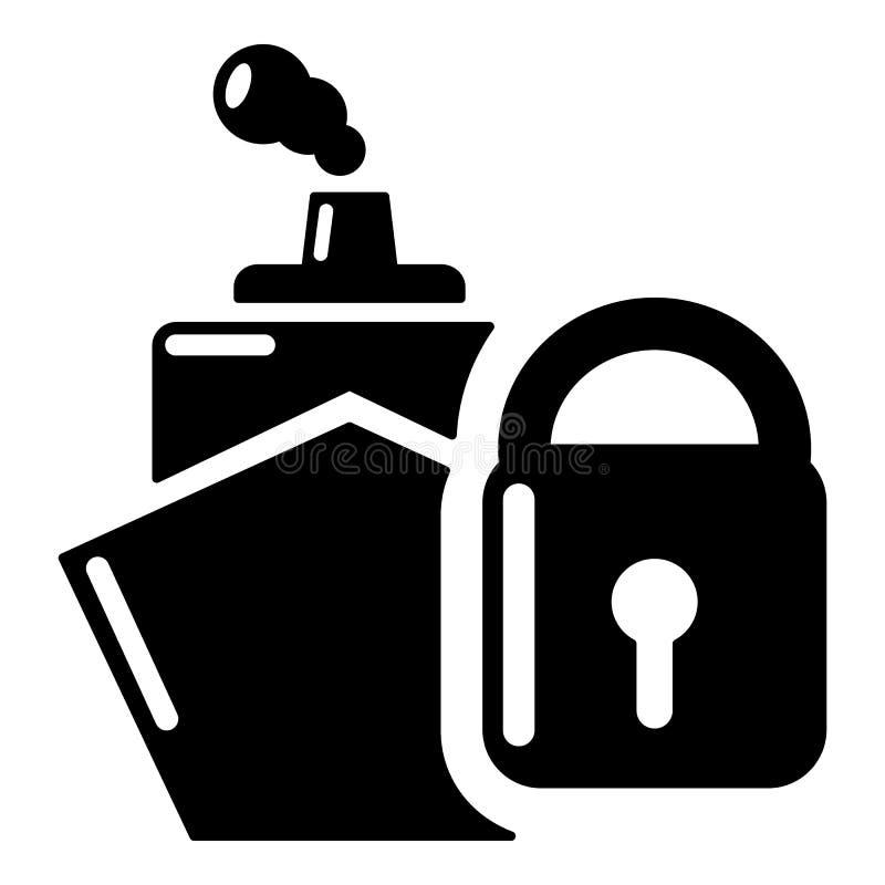 Download Het Pictogram Van De Verzekeringsreis, Eenvoudige Zwarte Stijl Vector Illustratie - Illustratie bestaande uit bescherming, voorwerp: 107707411