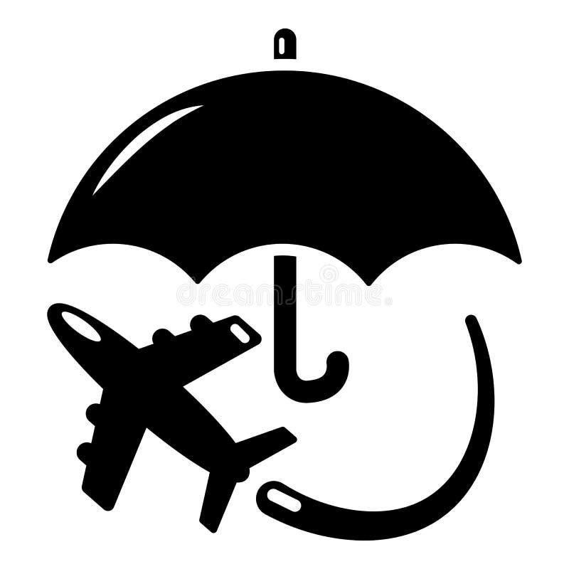 Download Het Pictogram Van De Verzekeringsvlieg, Eenvoudige Zwarte Stijl Vector Illustratie - Illustratie bestaande uit vliegtuig, risico: 107707636