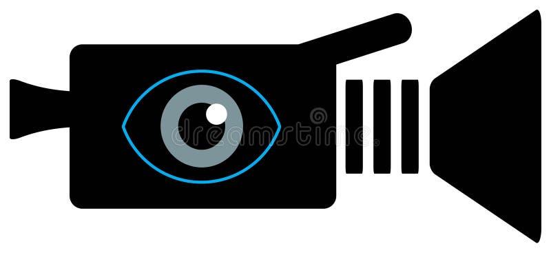 Het pictogram van de videocamera vector illustratie