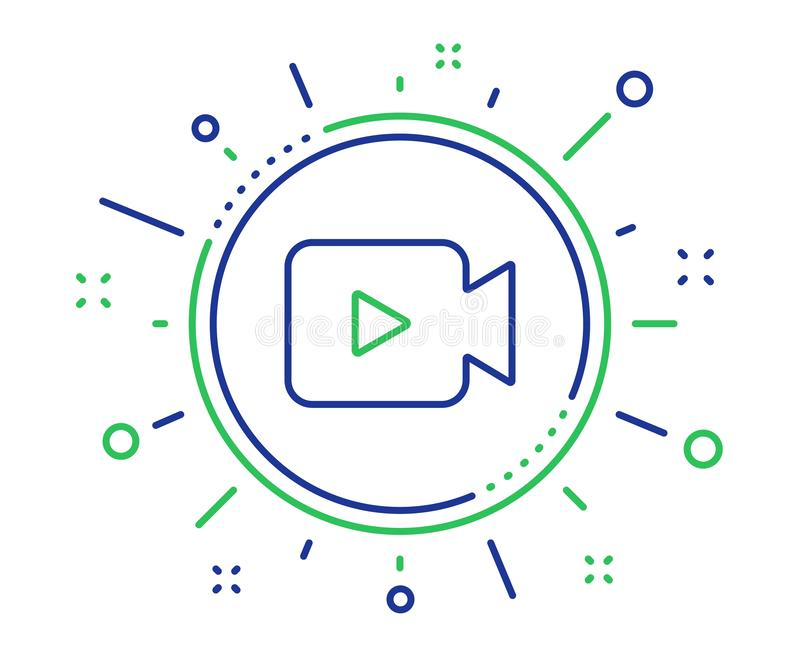Het pictogram van de videocameralijn Film of Bioskoopteken Vector stock illustratie