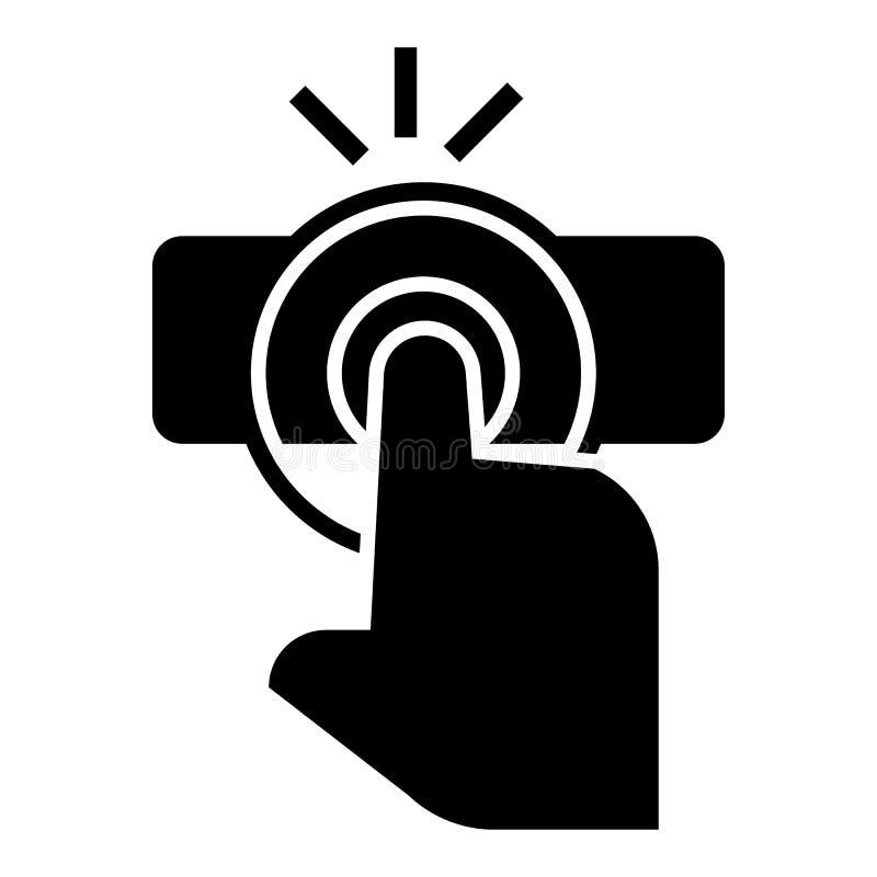 Het pictogram van de vingeraanraking, eenvoudige stijl stock illustratie